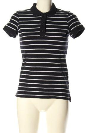 H&M L.O.G.G. Polo-Shirt schwarz-weiß Allover-Druck Casual-Look