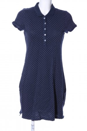 H&M L.O.G.G. Polo Dress blue-white spot pattern business style