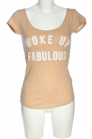 H&M L.O.G.G. Print-Shirt nude meliert Casual-Look