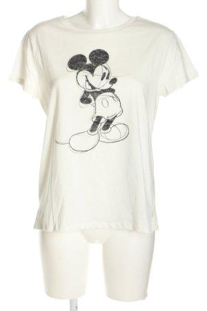 H&M L.O.G.G. T-shirt imprimé blanc-noir imprimé avec thème