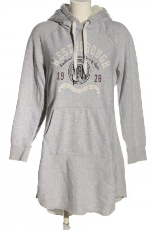 H&M L.O.G.G. Sweater Dress light grey-white flecked casual look