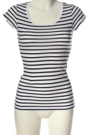 H&M L.O.G.G. Koszulka w paski biały-czarny Wzór w paski W stylu casual