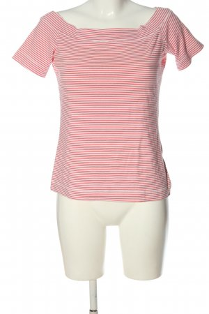 H&M L.O.G.G. Koszulka w paski biały-czerwony Wzór w paski Elegancki
