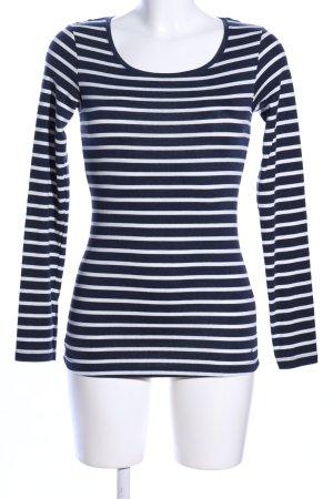 H&M L.O.G.G. Stripe Shirt black-white striped pattern casual look
