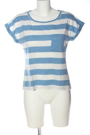 H&M L.O.G.G. Ringelshirt blau-weiß Allover-Druck Casual-Look