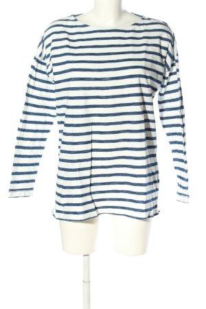 H&M L.O.G.G. Ringelshirt weiß-blau meliert Casual-Look