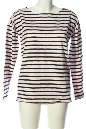 H&M L.O.G.G. Ringelshirt pink-schwarz Streifenmuster Casual-Look