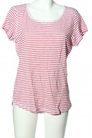 H&M L.O.G.G. Ringelshirt rot-weiß Streifenmuster Casual-Look
