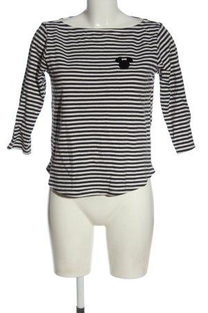 H&M L.O.G.G. Koszulka w paski czarny-biały Wzór w paski W stylu casual