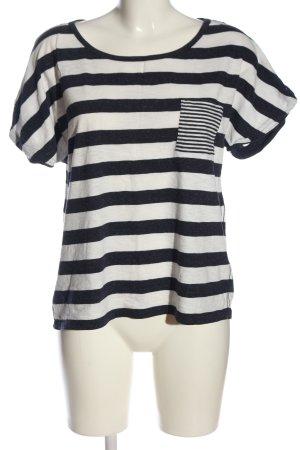 H&M L.O.G.G. Koszulka w paski niebieski-biały Wzór w paski W stylu casual