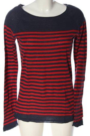 H&M L.O.G.G. Gestreept shirt zwart-rood gestreept patroon casual uitstraling