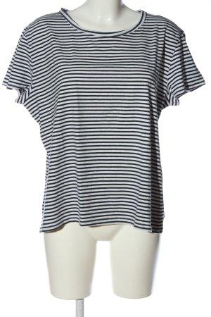 H&M L.O.G.G. Koszulka w paski biały-niebieski Wzór w paski W stylu casual