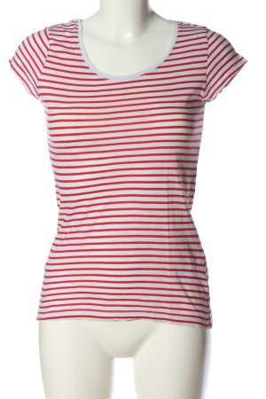 H&M L.O.G.G. Ringelshirt rot-weiß Allover-Druck Casual-Look