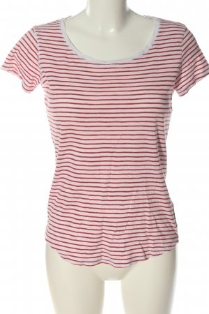 H&M L.O.G.G. Ringelshirt weiß-rot Streifenmuster Casual-Look