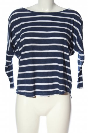 H&M L.O.G.G. Ringelshirt blau-weiß Streifenmuster Casual-Look