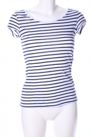 H&M L.O.G.G. Stripe Shirt blue-white striped pattern casual look