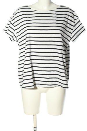 H&M L.O.G.G. Stripe Shirt white-black striped pattern casual look