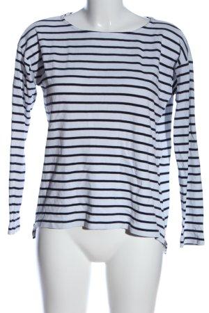 H&M L.O.G.G. Ringelshirt weiß-schwarz Streifenmuster Casual-Look