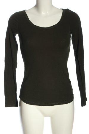 H&M L.O.G.G. Ribbed Shirt khaki casual look