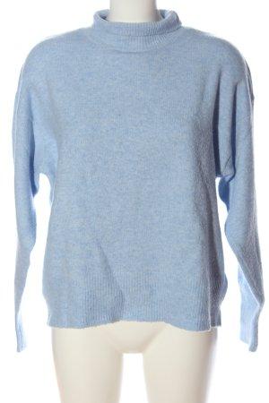H&M L.O.G.G. Rollkragenpullover blau meliert Casual-Look