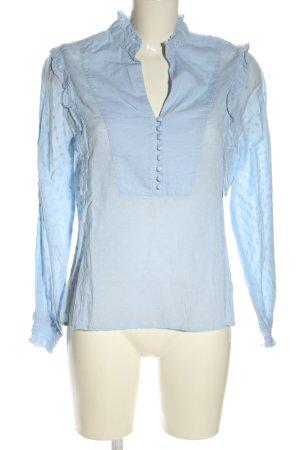 H&M L.O.G.G. Rüschen-Bluse blau Casual-Look