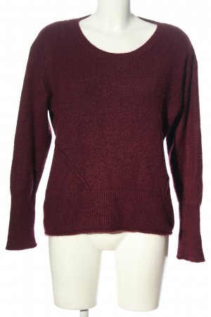 H&M L.O.G.G. Rundhalspullover lila meliert Casual-Look