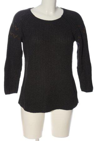 H&M L.O.G.G. Rundhalspullover schwarz-bronzefarben Casual-Look