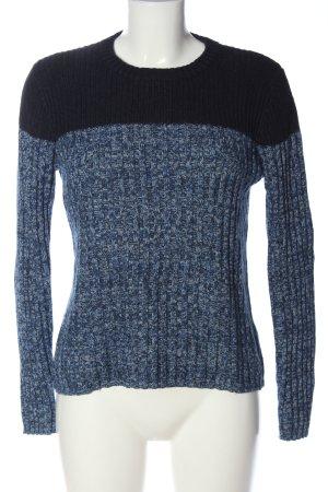H&M L.O.G.G. Rundhalspullover blau-schwarz meliert Casual-Look