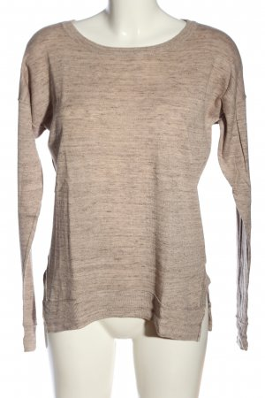 H&M L.O.G.G. Rundhalspullover wollweiß meliert Casual-Look