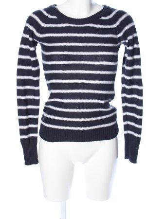 H&M L.O.G.G. Rundhalspullover blau-weiß Streifenmuster Casual-Look