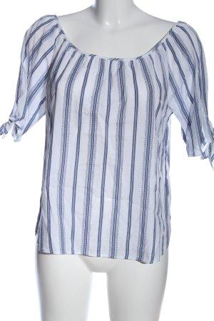 H&M L.O.G.G. Schlupf-Bluse weiß-blau Streifenmuster Casual-Look
