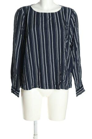 H&M L.O.G.G. Schlupf-Bluse blau-weiß Streifenmuster Casual-Look