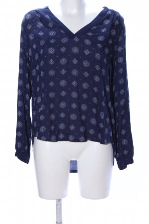 H&M L.O.G.G. Schlupf-Bluse blau abstraktes Muster Casual-Look