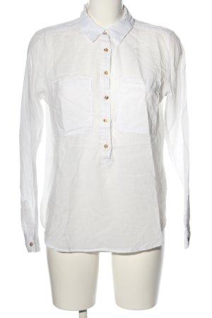 H&M L.O.G.G. Schlupf-Bluse weiß Business-Look