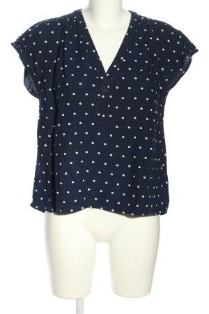 H&M L.O.G.G. Schlupf-Bluse blau-weiß Punktemuster Casual-Look