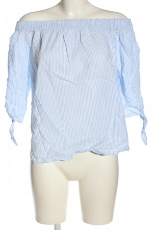 H&M L.O.G.G. Schlupf-Bluse blau-weiß Allover-Druck Casual-Look