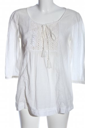 H&M L.O.G.G. Schlupf-Bluse weiß Casual-Look