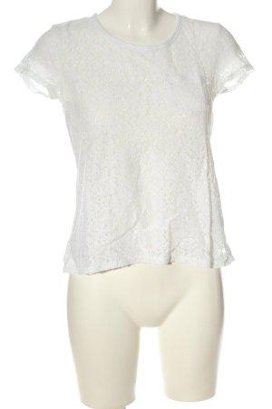 H&M L.O.G.G. Blouse avec noeuds blanc imprimé allover style décontracté