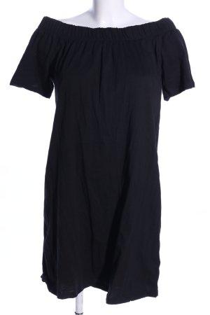 H&M L.O.G.G. schulterfreies Kleid schwarz Casual-Look
