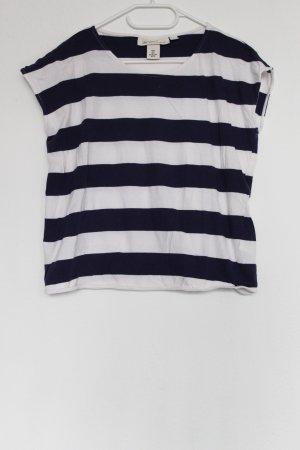 H&M L.O.G.G. Muscle Shirt dark blue-white cotton