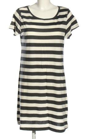 H&M L.O.G.G. Shirtkleid schwarz-weiß Streifenmuster Casual-Look