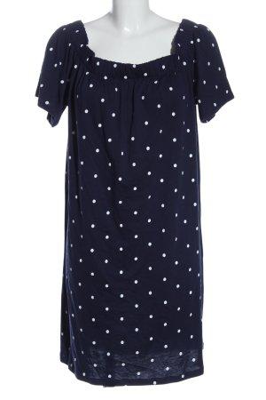 H&M L.O.G.G. Shirtkleid blau-weiß Punktemuster Casual-Look
