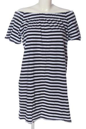H&M L.O.G.G. Shirtkleid weiß-schwarz Streifenmuster Casual-Look