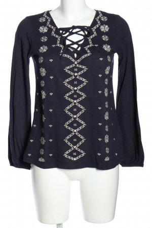 H&M L.O.G.G. Shirttunika lila grafisches Muster Casual-Look