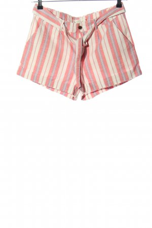 H&M L.O.G.G. Shorts pink-wollweiß Streifenmuster Casual-Look
