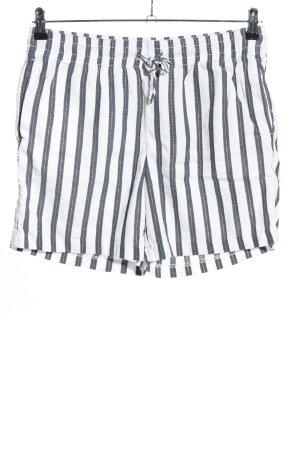H&M L.O.G.G. Shorts blau-weiß Streifenmuster Casual-Look