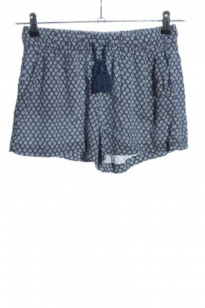 H&M L.O.G.G. Shorts blau-weiß Allover-Druck Casual-Look