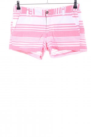 H&M L.O.G.G. Shorts weiß-pink Streifenmuster Casual-Look