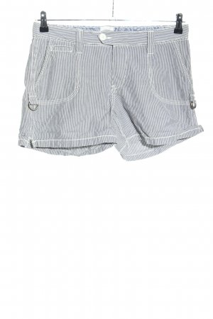 H&M L.O.G.G. Shorts hellgrau-weiß Streifenmuster Casual-Look