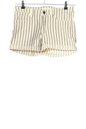 H&M L.O.G.G. Shorts creme-schwarz Streifenmuster Casual-Look